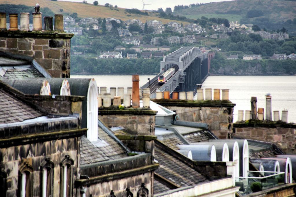 Tay Railbridge and rooftops