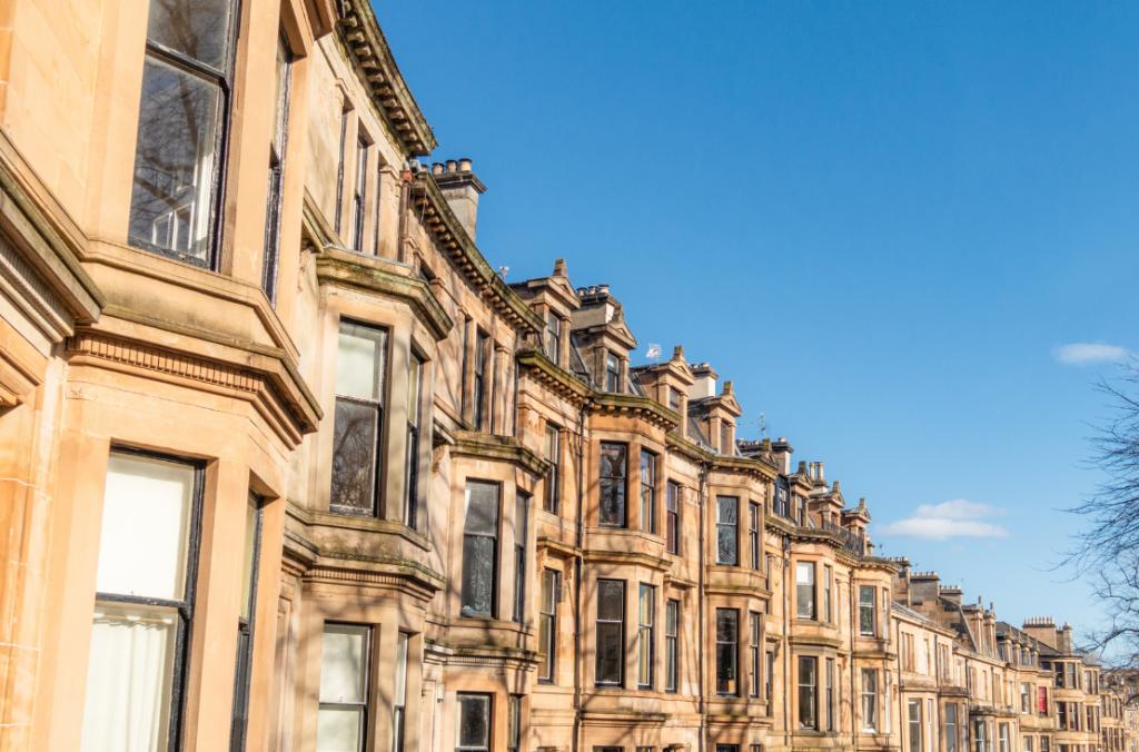 Edinburgh crescent row of properties