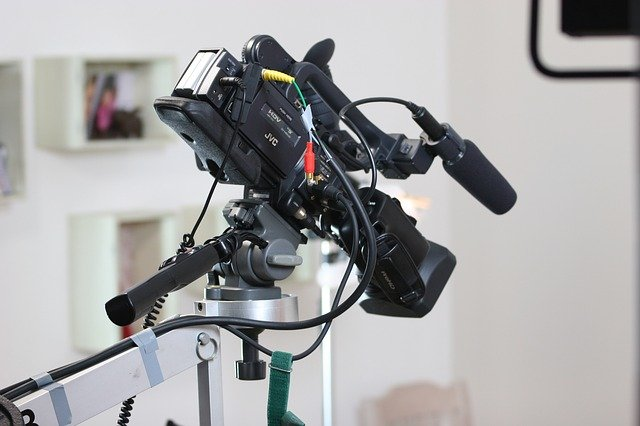 Video camera inside a house