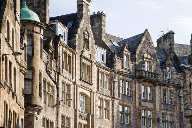Classic Edinburgh architecture of residential properties
